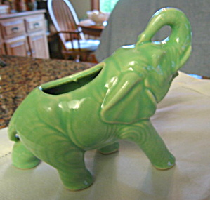 Elephant Pottery Planter Vintage