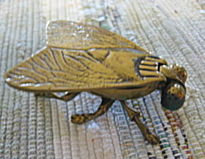 Vintage English Brass Matchholder