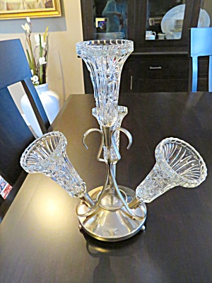 Glass & Stainless Vintage Epergne
