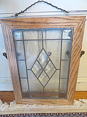 Etched Glass Framed Window Panel