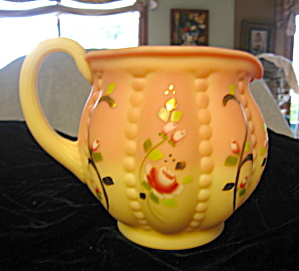 Fenton Burmese Art Glass Pitcher