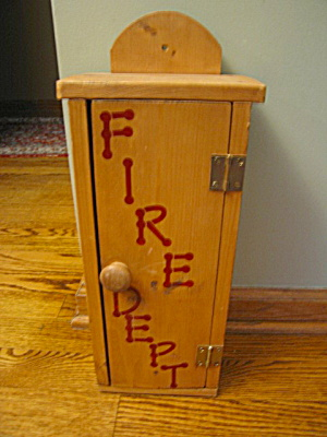Wood Fire Extinguisher Box