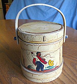 Smalll Vintage Wood Firkin  (Image1)