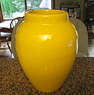 Yellow Vintage Floor Vase Oil Jar