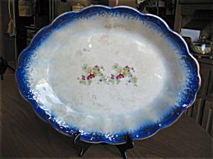 Antique Flow Blue Platter (Image1)