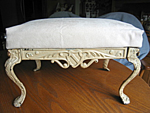 Antique Howell Patented Cast Iron Footstool (Image1)
