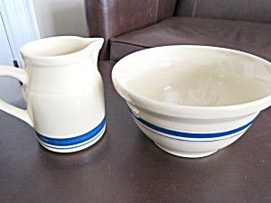 Friendship Pottery Pitcher & Bowl