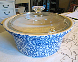 Friendship Pottery Spongeware Casserole