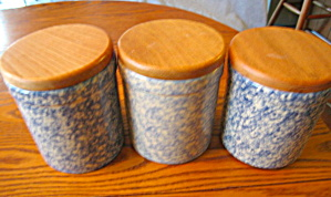 Friendship Pottery Spongeware Crocks
