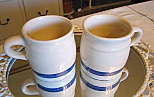Friendship Pottery Blue Stripe Mugs (Image1)