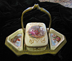 Antique French Porcelain Cigarette Box