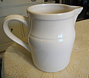Friendship Pottery White Pitcher