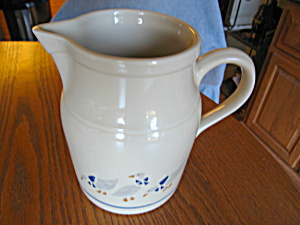 Large Friendship Pottery Pitcher - Ducks