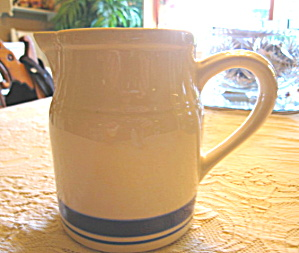 Friendship Pottery Blue Band Pitcher