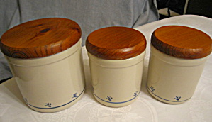 Friendship Pottery Crock Cannisters