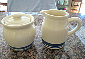 Friendship Pottery Creamer & Sugar