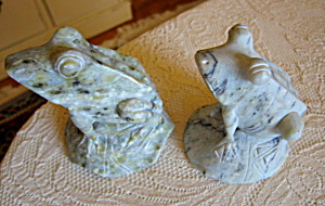 Alabaster Frog Figurines
