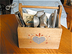 Collectible Kitchen Gadgets & Wood Carrier