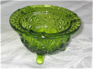 Vintage Pressed Glass Daisy And Button Ashtray