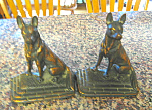 German Shepherd Vintage Bookends