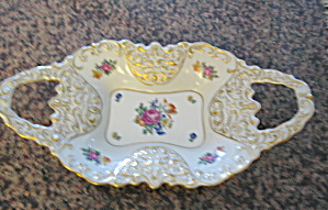 German Porcelain Enameled Tray