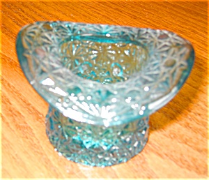 Glass Hat Toothpick Holder
