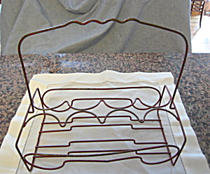 Antique Metal Glass Carrier