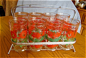 Vintage Glass Set w/Carrier (Image1)