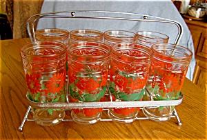 Glass Set w/Carrier Vintage (Image1)