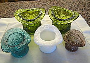 Vintage Glass Hat Vases (Image1)