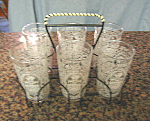Vintage Glass Set Retro (Image1)