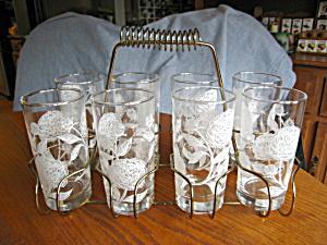 Retro Glass Holder and Vintage Glasses (Image1)