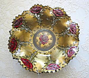 Victorian Goofus Glass Bowl Vase (Image1)