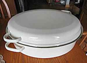Large Enameled Cast Iron Roaster