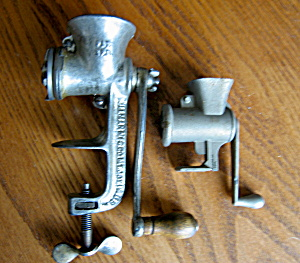 Antique Child's And Salesman's Sample Grinders