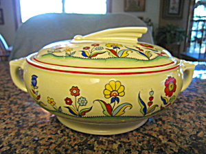 Hall China Casserole Meadow Flower (Image1)