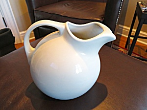 Hall China White Ball Pitcher