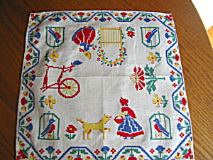 Dutch Theme Hanky Vintage (Image1)