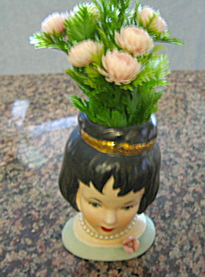 Inarco Raven Hair Head Vase Oriental Porcelainpottery At More