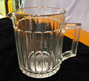 Heisey Glass Pitcher Patented Antique