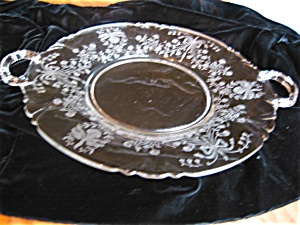 Large Vintage Heisey Glass Orchid Tray
