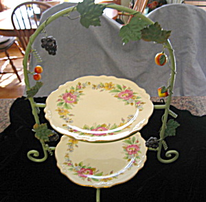 Homer Laughlin Dinner Plates & Rack (Image1)