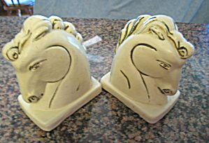 Vintage Chalk Ware Horse Bookends