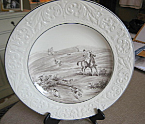 Wood's Antique English Hunt Scene Plate