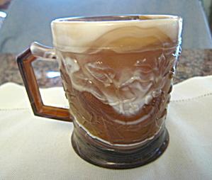 Vintage Imperial Slag Glass Mug (Image1)