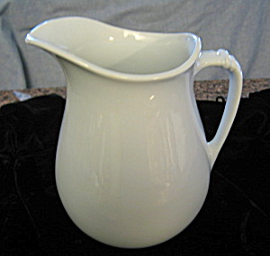 Antique Ironstone Pitcher Large