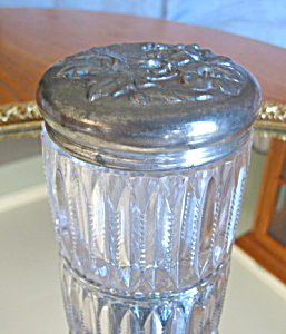 Antique Cut Glass Vanity Jar