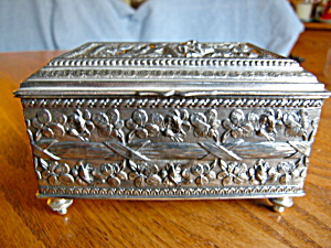 Antique Art Nouveau Footed Box (Image1)