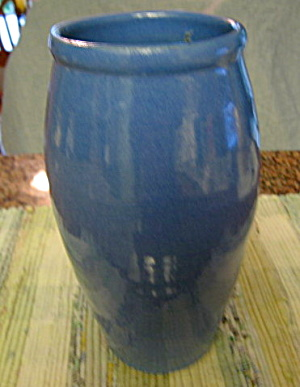 Old Kentucky Hand Turned Blue Vase