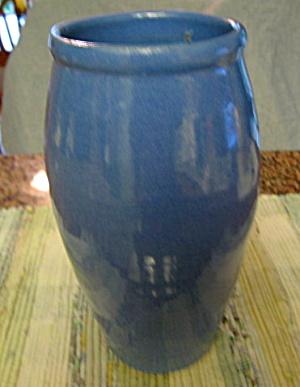 Old Kentucky Hand Turned Blue Vase (Image1)